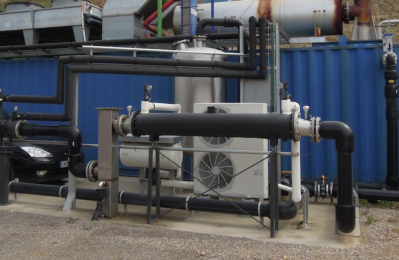 Enfriador de biogás  - secador de biogás - secador de biogas - chiller de biogás