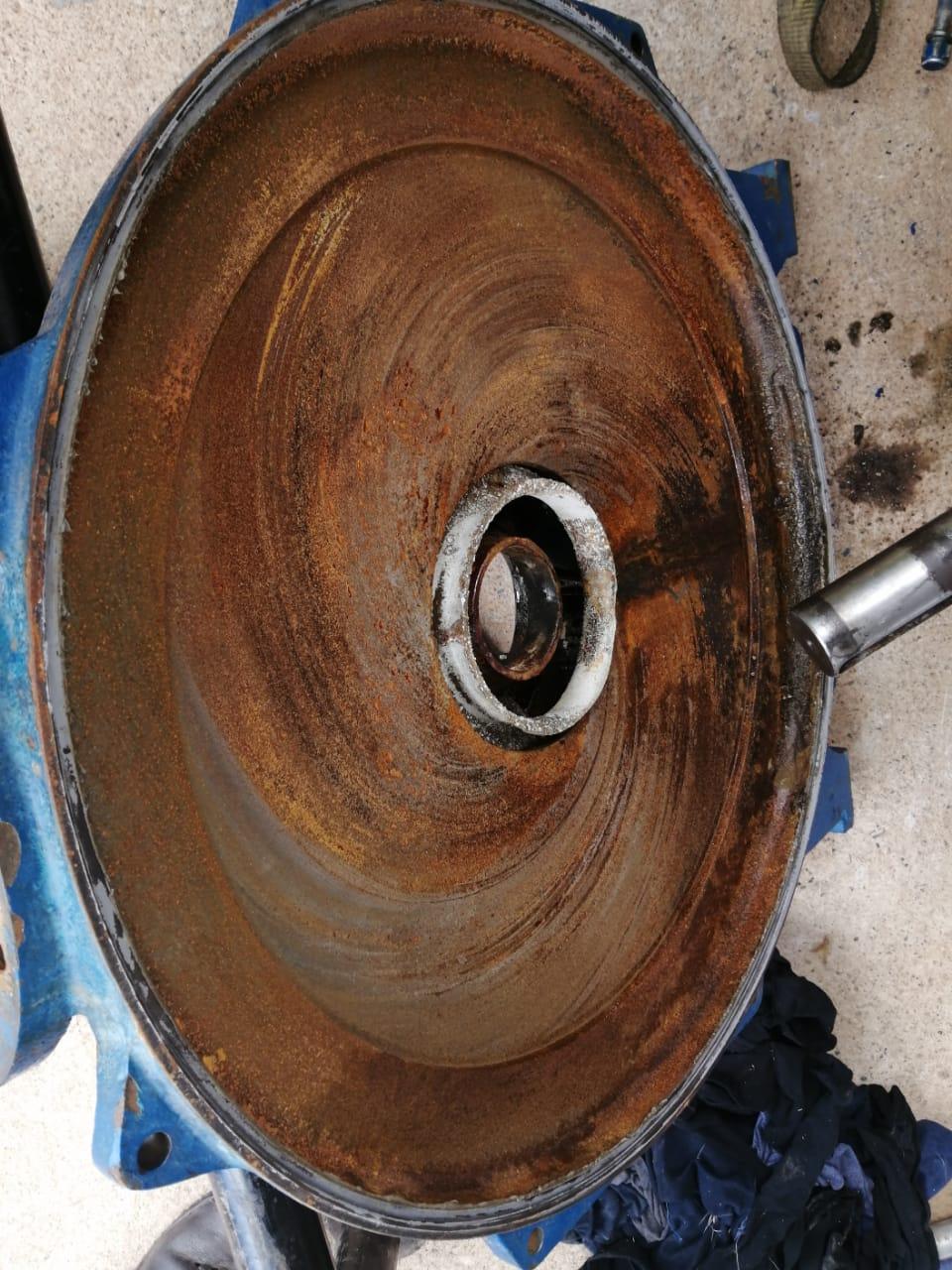 Daños por corrosión del H2S en soplador - desulfuración del biogás - limpieza de biogas - purificación de biogas - reducción de H2S