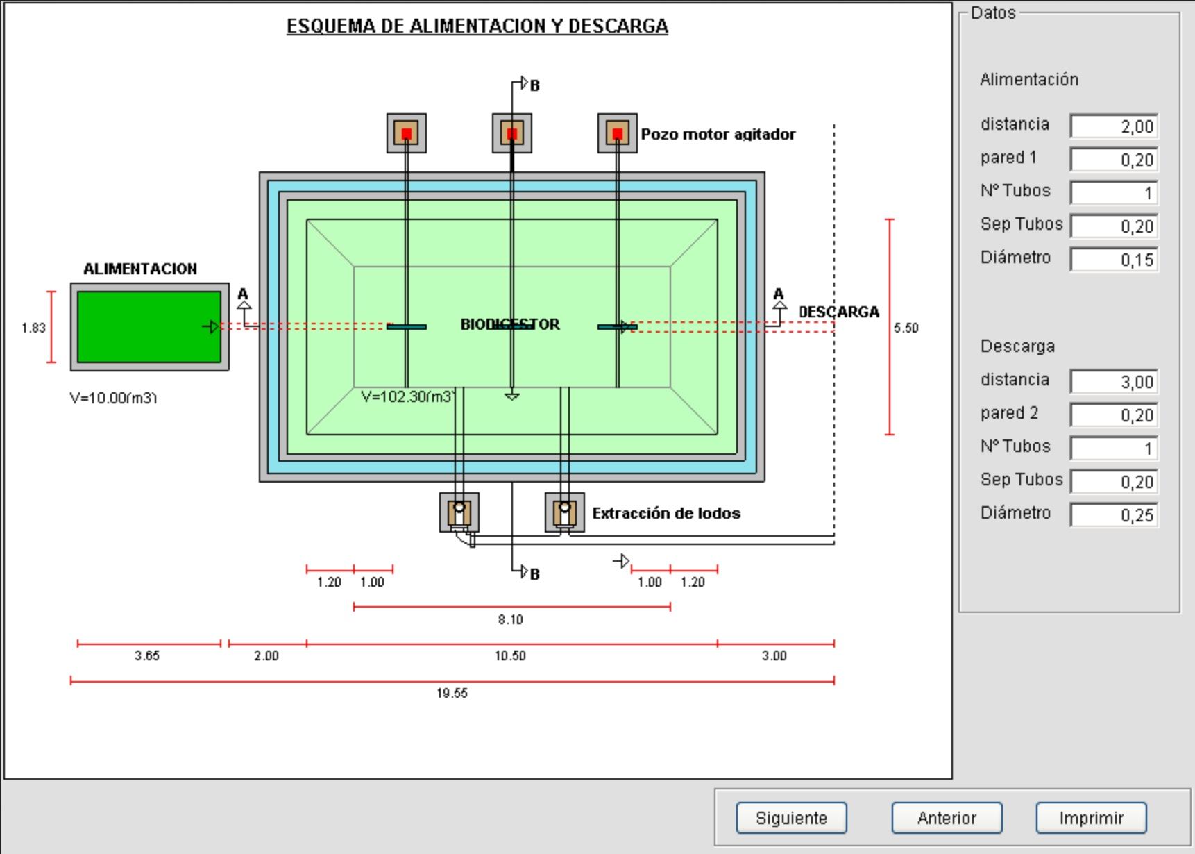 Software para dimensionamiento  de biodigestores