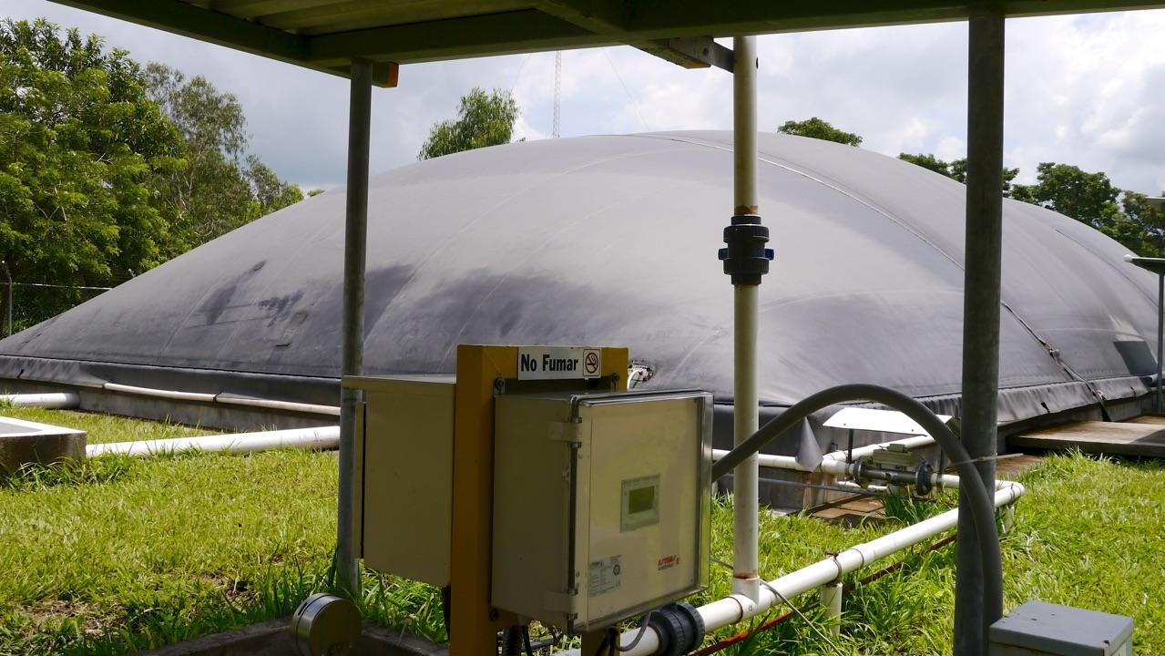 Biodigestor en industria de lácteos