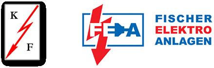 "Grafik: ""2 Logos - Klaus Fischer KG vs. FISCHER-ELEKTRO-ANLAGEN GmbH"": FISCHER-ELEKTRO-ANLAGEN GmbH, Elektriker in Reinbek."
