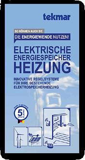 """Grafik: """"Flyer-Cover: Elektrische Energiespeicherheizung (EEHS)"""" tekmar & FISCHER-ELEKTRO-ANLAGEN,  Elektriker im Raum Hamburg"""