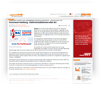 """Grafik: """"Screenshot Presseartikel unter OPENPR"""" / FISCHER-ELEKTRO-ANLAGEN - Elektriker Meisterbetrieb im Großraum Hamburg"""