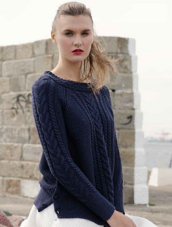 "Pull coton marine ""Curragh Side"""