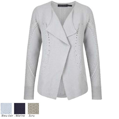 "Gilet coton argent ""Waterfall"""