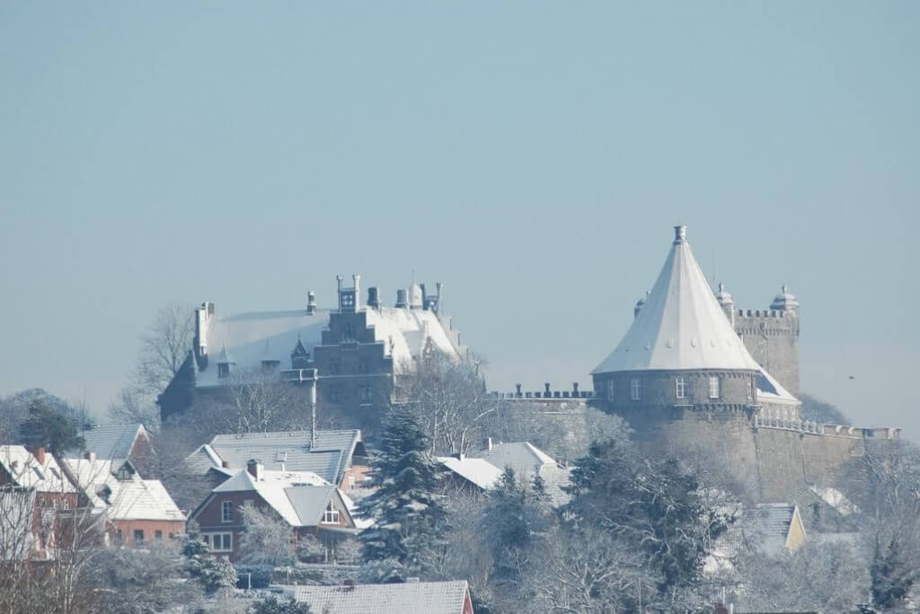 Die Burg Bentheim im Schnee