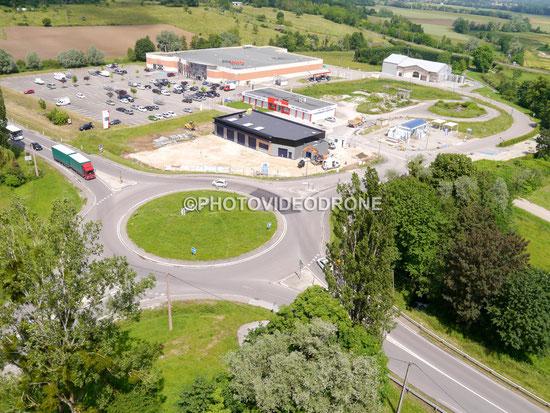 Photo et vidéo en drone zone commercial en Côte d'Or Bourgogne-Photovideodrone