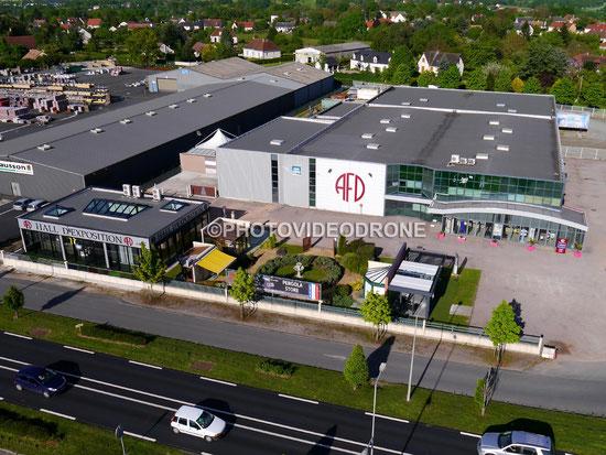Photo et Vidéo en drone de l'usine AFD à la Châtre Indre-Photovideodrone