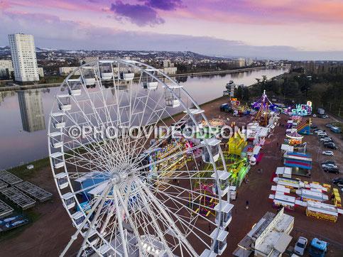 Photo et Vidéo en drone du Luna Park à Vichy Allier- Photovideodrone