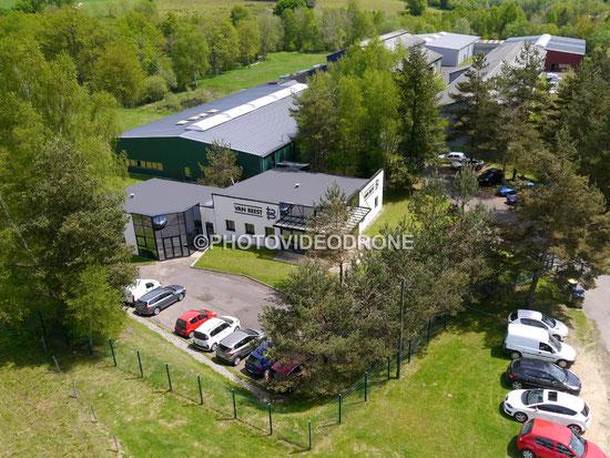 Photo et  Vidéo en Drone de l'usine Van Beest à la Celle sur Durolle Puy-de-Dôme-Photovideodrone