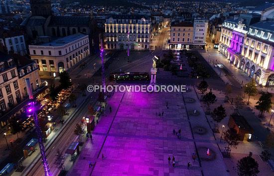 Photo et vidéo en drone de la Place de Jaude à Clermont Ferrand Auvergne - Photovideodrone