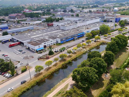 Photo et Vidéo en drone de l'usine AMIS à Montluçon-Photovideodrone