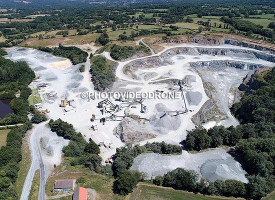Photo et vidéo en drone de la Carrière Sotramat à Châtelus-Malvaleix-Photovideodrone