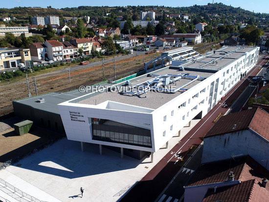 Cliché en drone de l'IFKM à Vichy Allier Auvergne - Photovideodrone