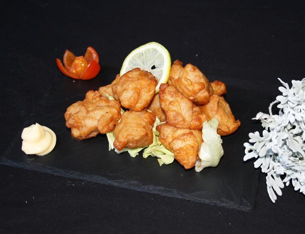 Tori kara age - Pollo macerado en gengibre y soja y rebozado