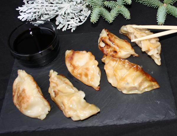 Gyoza moriawase - Empanadillas japonesas rellenas de carne y verdura y de marisco