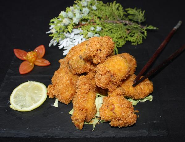 Tako tempura - Tempura empanada de pulpo con cúrcuma