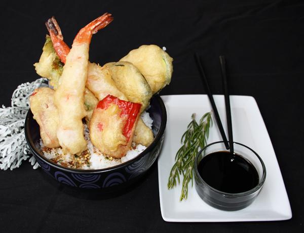 Ten don - Arroz gohan con tempura variada