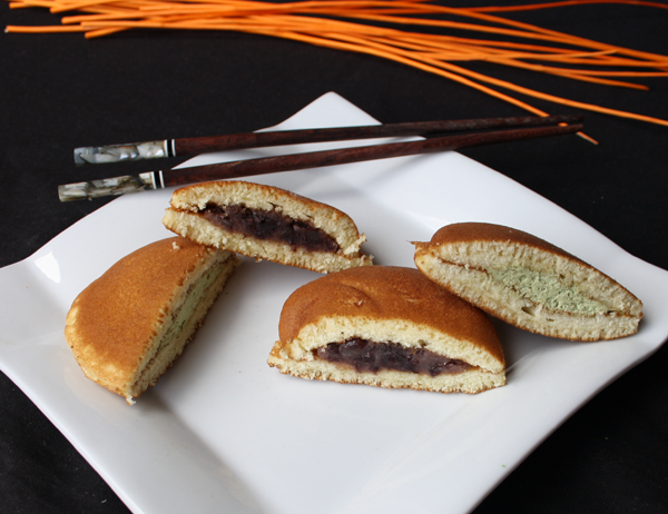 Dorayaki moriawase - Pastelitos de matcha y anko