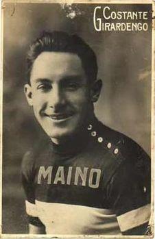 Costante Giradengo con la maglia MAINO nel 1914
