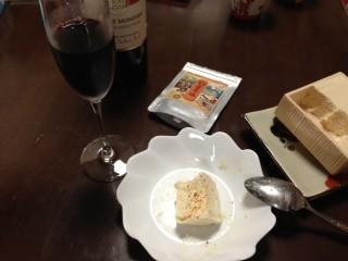 雲丹塩を湯葉にふりかけ、ワインをいただきました