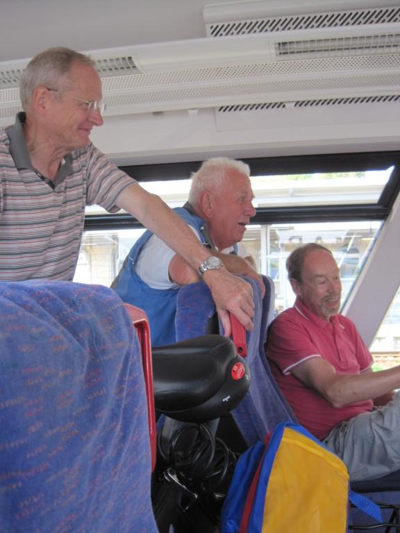 .. auch Zug fahren macht Spass,......