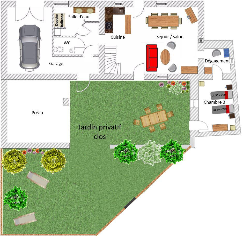 Les Jardins De La Robinière description - gite la robiniere