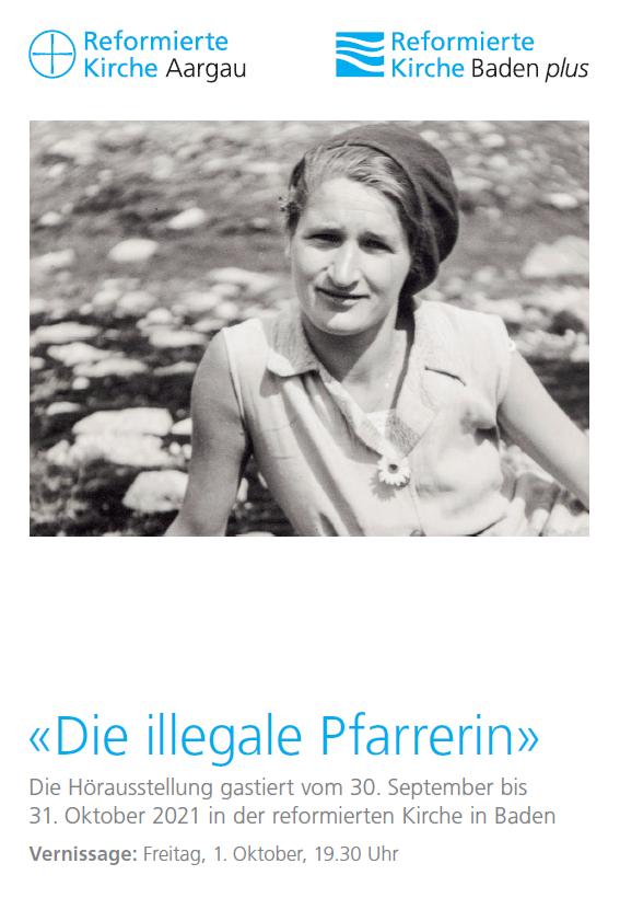 """Vernissage """"Die illegale Pfarrerin"""""""