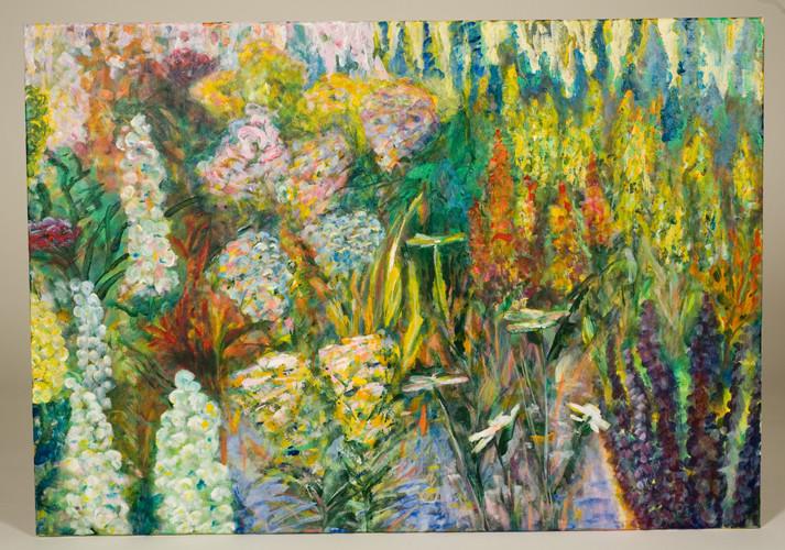 Garten, Acryl auf Leinwand