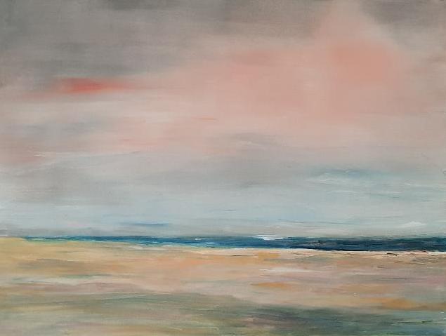 Morgens am Meer, Acryl auf Leinwand