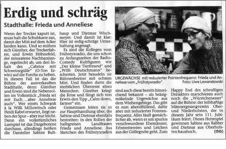 18.11.2003 Stadthalle Osnabrück