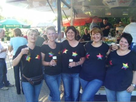 """Die fünf Mädels vom Team """"Wilde Hupen"""""""