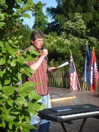 Führte durchs Programm, Sangesbruder Reinhard Nagel
