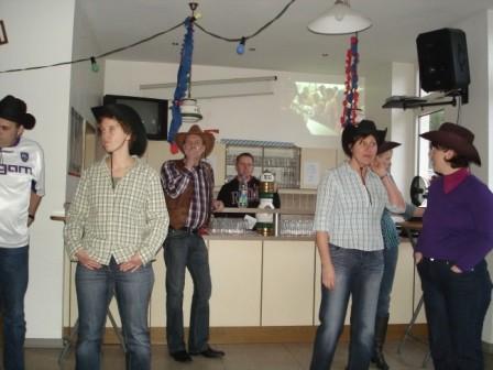 Line Dance Generalprobe Winterfest 2009