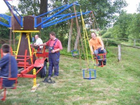 24.06.2010 Festvorbereitungen - Karuselltest
