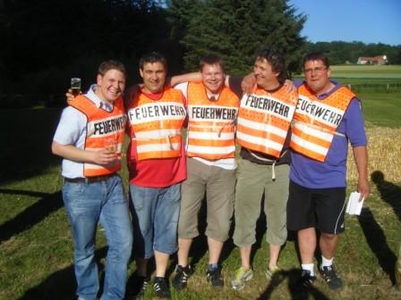 """Mannschaftsfoto Team """"Feuerwehr"""""""