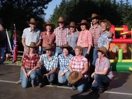 Mannschaftsfoto Line Dance Gruppe Oberholsten