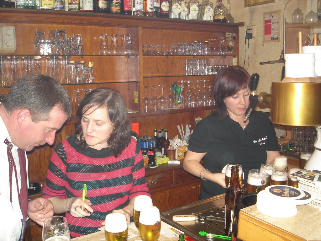 Sulingen, After-Show-Party bei Ute