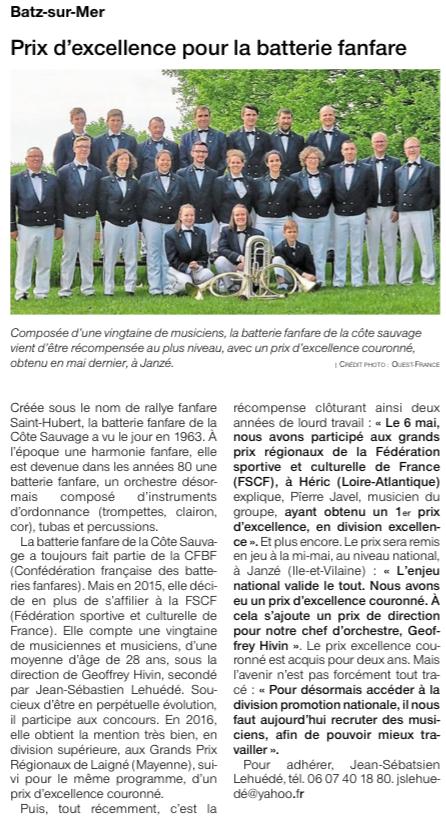 Ouest France - Juin 2018