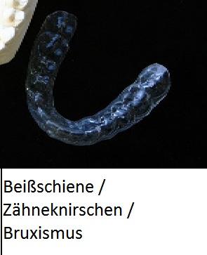 Zahnschutz über die Zähne bei Zähneknirschen