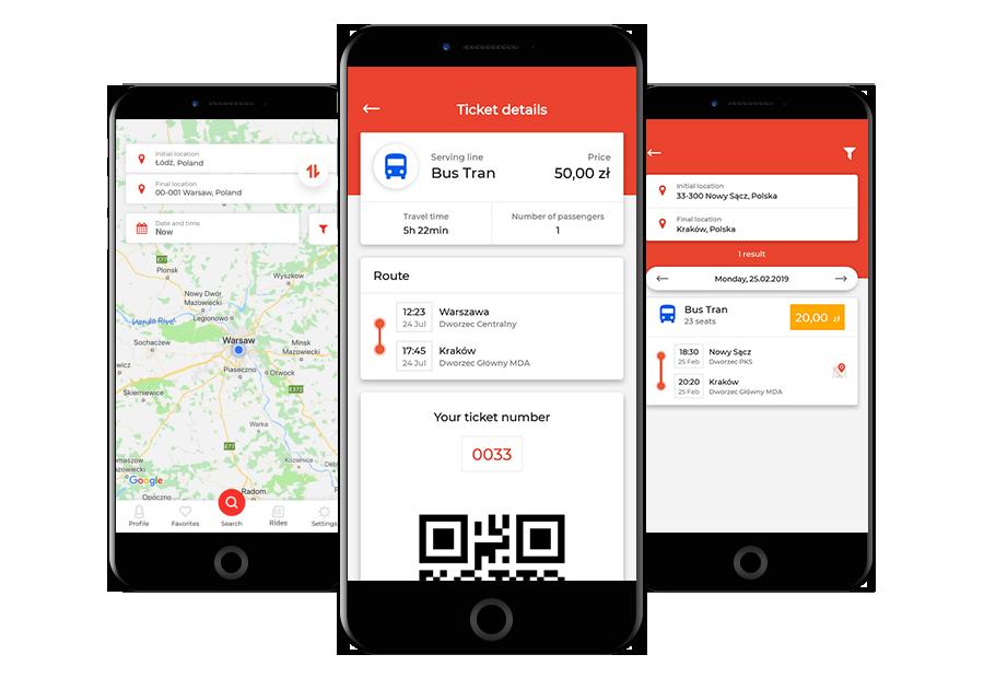 Bouw een multifunctionele bedrijfsapp en verhoog de klantentevredenheid! Laat klanten tickets boeken en betalen, de locatie van de bus volgen en info krijgen over zowel busrit als bestemming via hun eigen smartphone!
