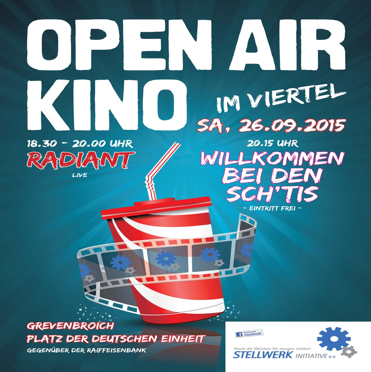 Plakat für unser Openair-Kino
