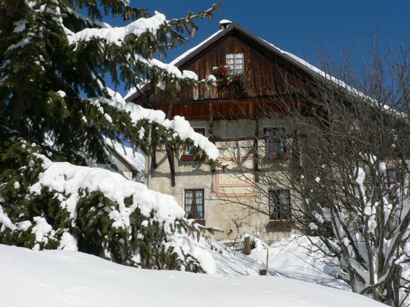 La façade, l'hiver
