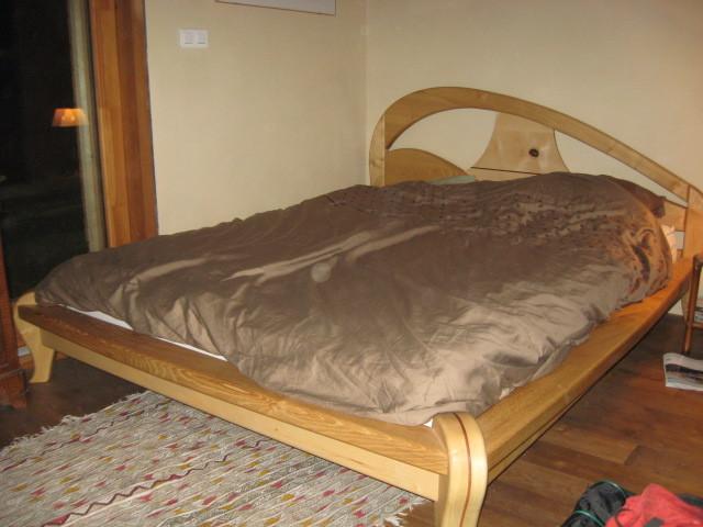 lit double noyer et frêne