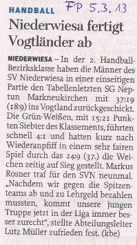 Freie Presse Flöha vom 05.03.2013