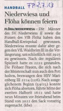 Bericht - Freie Presse vom 02.07.2013