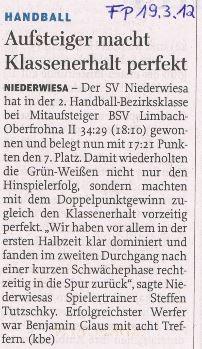 Freie Presse Flöha vom 19.03.2013