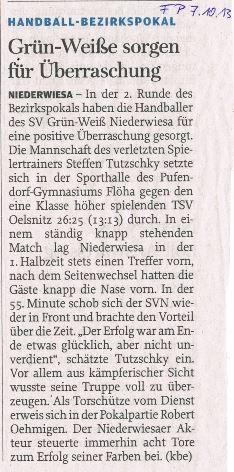 Freie Presse Flöha vom 07.10.2013