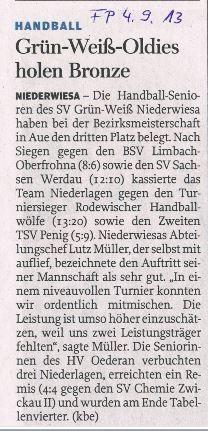 Freie Presse Flöha vom 04.09.2013
