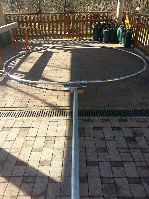 Magnetic Loop Antenna with 12m of circumference  for 160/80/40m